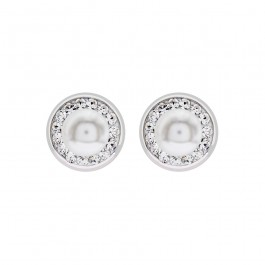 Round Classic Earring with Crystal Pearl from Swarovski®