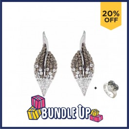 Eye-Catcher Earring With Crystals From Swarovski®