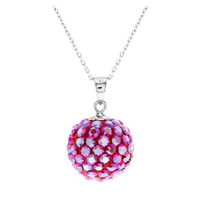 12mm Lollipop Necklace With Crystals From Swarovski®