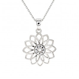 Blooming Flower Pendant With Crystals From Swarovski®