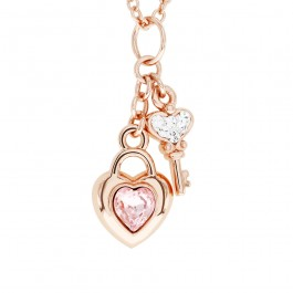 Love Lock Pendant With Crystals From Swarovski®