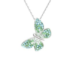 Trendy Butterfly Pendant with Crystals From Swarovski®