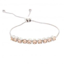 Adjustable Half Tennis Bracelet with Crystals from Swarovski®