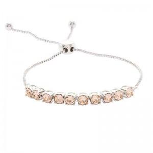 Adjustable Half Tennis Bracelet with Crystals from Swarovski®