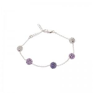Lollipop Bracelet With Crystals From Swarovski®