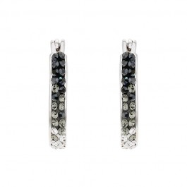 Elegant Loop Earring With Crystals From Swarovski®