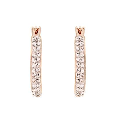 Elegant Loop Earring With Crystals From Swarovski®