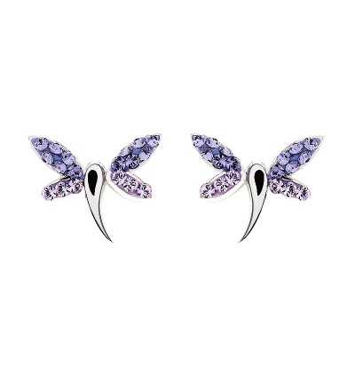 Cute Dragonfly Earring With Crystals From Swarovski®