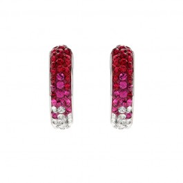 Half Creole Simple Earring With Crystals From Swarovski®