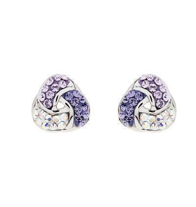 Love Knot Earring With Crystals From Swarovski®