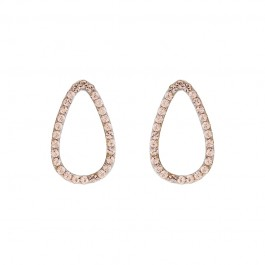 Minimal Drop Earring With Crystals From Swarovski®
