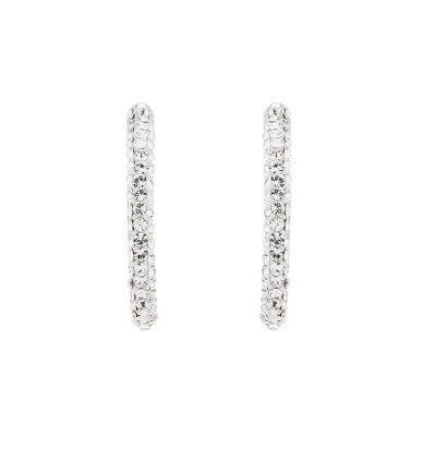 Medium Creole Earring With Crystals From Swarovski®