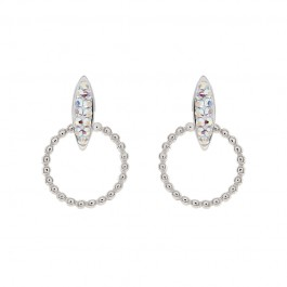 Simple Bead Dangling Earring With Crystals From Swarovski®