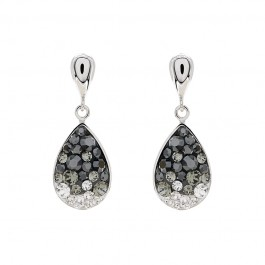 Small Tear Drop Dangling Earring with Crystals From Swarovski®