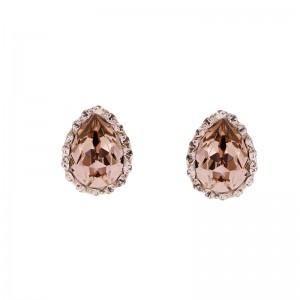Minimal Teardrop Stud Earring with Crystals From Swarovski®