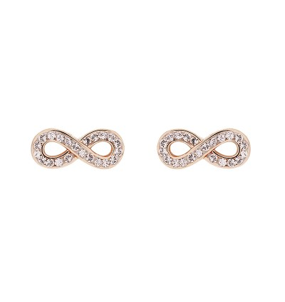 Cute Infinity Stud Earring with Crystals From Swarovski®