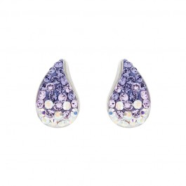 Tiny Water Drop Earring with Crystals From Swarovski®