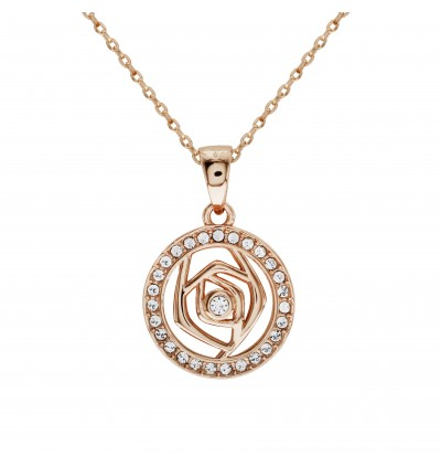 [MS#2] Rose Pave Pendant with Crystals From Swarovski®