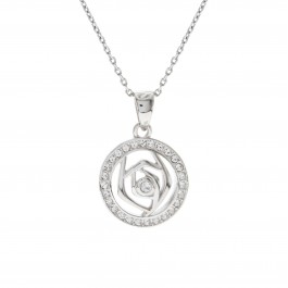 Rose Pave Pendant with Crystals From Swarovski®