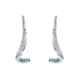 Swirly Hanging Earring with Crystals From Swarovski®