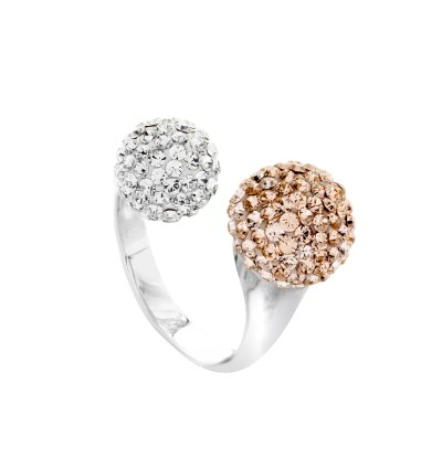 Twin Lollipop Ring with Crystals From Swarovski®