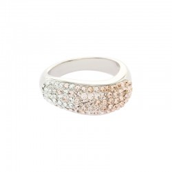Wavy Ring with Crystals From Swarovski®