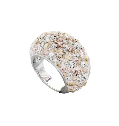Elegant Classic Dome Ring with Crystals From Swarovski®