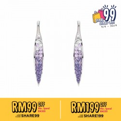 Long Marquise Hook Earring with Crystals From Swarovski®