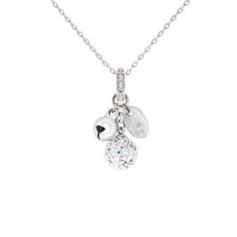 Lollipop Bell Pendant/Charm with Crystals From Swarovski®