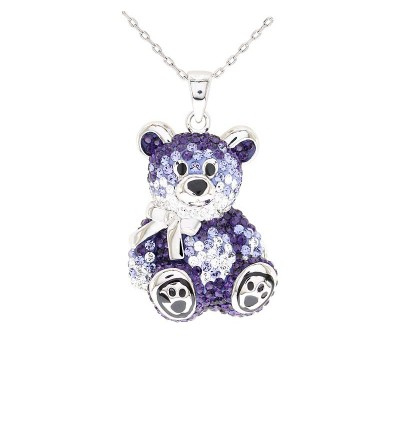 Teddy Bear Pendant with Crystals from Swarovski®
