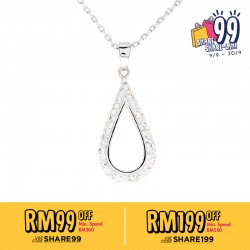 Hollow Tear Drop Pendant with Crystals From Swarovski®