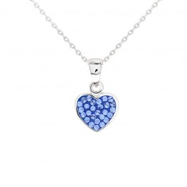 Cute Heart Pendant with Crystals From Swarovski®