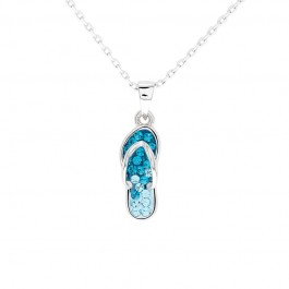 Sandal Pendant with Crystals From Swarovski®