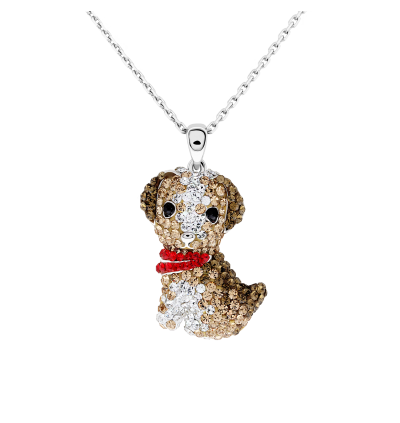 [Special Edition] Puppy Pendant with Crystals from Swarovski®