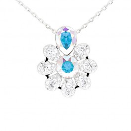 Beautiful Fancy Blooming Pendant with Crystals from Swarovski®