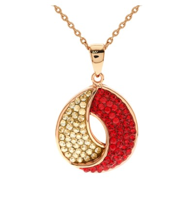 Gorgeous Circulation Pendant with Crystals from Swarovski®