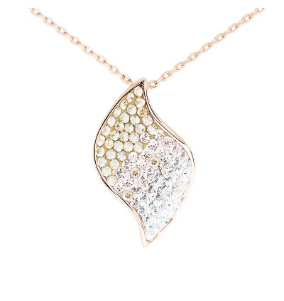 Elegant Spiral Pendant with Crystals from Swarovski®