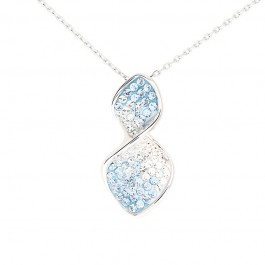Elegant Twist Pendant with Crystals from Swarovski®