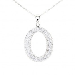 Elegant Ellipse Pendant with Crystals from Swarovski®