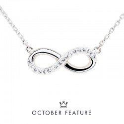 Semi Infinity Pendant with Crystals from Swarovski®