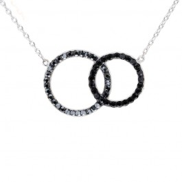 Double Circle Pendant with Crystals from Swarovski®