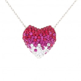 Glitzy Heart Pendant with Crystals from Swarovski®