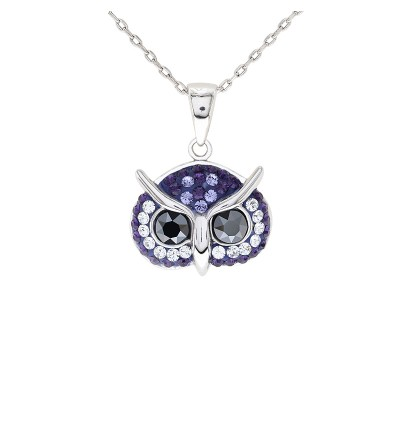 Elegant Owl Pendant with Crystals from Swarovski®