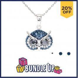 Elegant Owl Pendant with Crystals from Swarovski®