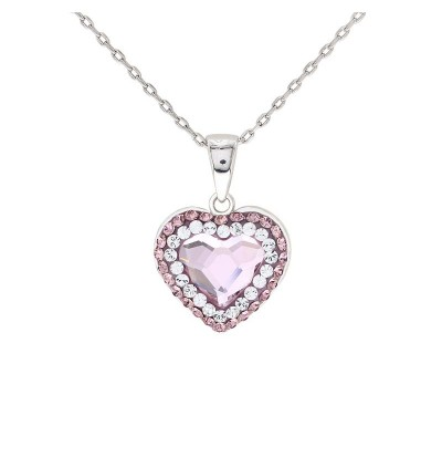 Feminine Love Pendant with Crystals from Swarovski®