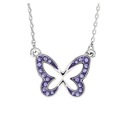 [Double-Double] Tiny Butterfly Necklace with Crystals from Swarovski®