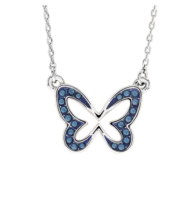 Tiny Butterfly Necklace with Crystals from Swarovski®