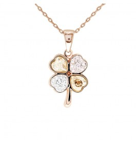Graceful Crystals Clover Pendant with Crystals from Swarovski®