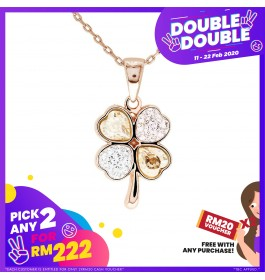 [Double-Double] Graceful Crystals Clover Pendant with Crystals from Swarovski®