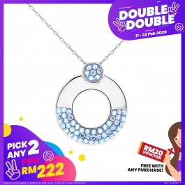 [Double-Double] Stylish Circle Shape Pendant with Crystals from Swarovski®